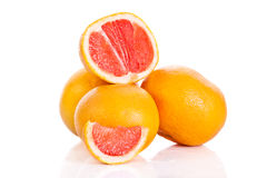 Grapefruit isolated on white background vegetable food helth Royalty Free Stock Photography