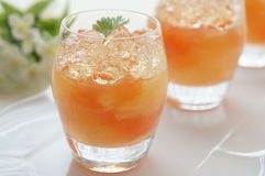 Grapefruit jelly Stock Images