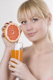 Grapefruit juice Stock Image
