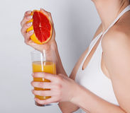 Grapefruit juice Stock Photos