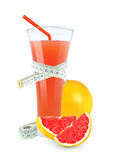 Grapefruit juice royalty-vrije stock foto's