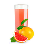 Grapefruit juice royalty-vrije stock afbeeldingen