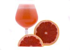 Grapefruit juice. Fresh juice and grapefruit fruits isolated on the white Stock Photo
