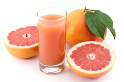 Grapefruit and juice . Royalty Free Stock Image