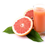 Grapefruit and juice. Stock Photography