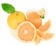 Grapefruit and juice Stock Image