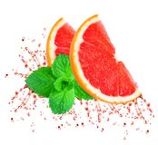 Grapefruit juice splash Royalty Free Stock Photo