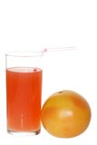 Grapefruit Juice With A Straw Royalty Free Stock Photo