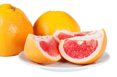 Grapefruit juicy slices Royalty Free Stock Images