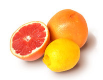 Grapefruit and lemon. Stock Photos