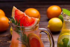 Grapefruit lemonade. Royalty Free Stock Images