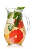 Grapefruit lemonade pitcher royalty free stock photo