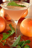 Grapefruit martini stock image