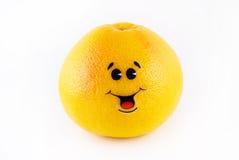 grapefruit met een vreugde Royalty-vrije Stock Foto's