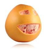Grapefruit met gelukkig gezicht Stock Fotografie