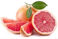 Grapefruit met plakken. Stock Foto