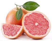 Grapefruit met plakken. stock foto's