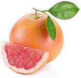 Grapefruit met plakken. stock afbeeldingen