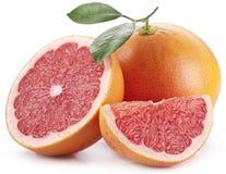 Grapefruit met plakken. stock afbeelding