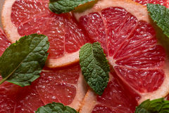 Grapefruit. With mint royalty free stock images