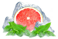 Grapefruit with mint and ice Royalty Free Stock Images