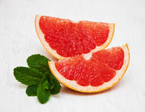 Grapefruit with mint Stock Images