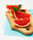 Grapefruit with mint Royalty Free Stock Images