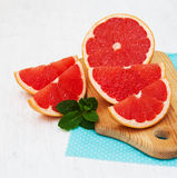 Grapefruit with mint Royalty Free Stock Image