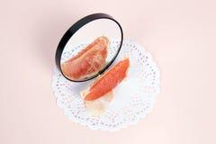 Grapefruit mirror Royalty Free Stock Image