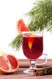 Grapefruit Mulled Wine (Punch) Stock Images