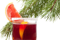 Grapefruit Mulled Wine (Punch) Royalty Free Stock Images