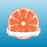 grapefruit odizolowywający plasterka biel royalty ilustracja