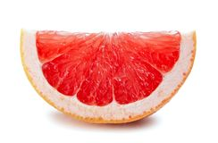 grapefruit odizolowywający plasterka biel Zdjęcia Royalty Free