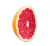grapefruit odizolowywający plasterka biel Zdjęcie Royalty Free