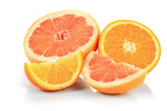 Grapefruit and orange Stock Images