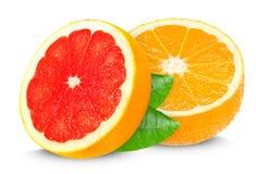 Grapefruit and orange Royalty Free Stock Photos