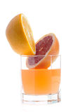Grapefruit, orange and juice Royalty Free Stock Photos