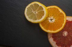 Grapefruit orange lemon Stock Photo