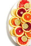 Grapefruit, orange, lime and lemon slices Royalty Free Stock Images