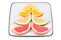 Grapefruit, orange, sweetie and lemon Stock Photography