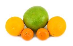 Grapefruit oranges tangerines. Fruit grapefruit oranges tangerines beautiful useful on white background Royalty Free Stock Photo