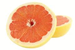 Grapefruit over wit Royalty-vrije Stock Foto's