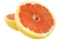 Grapefruit over wit Royalty-vrije Stock Fotografie