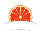 Grapefruit with paper banner Royalty Free Stock Images