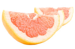 Grapefruit peaces Stock Photos