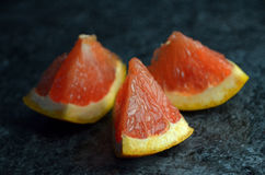 Grapefruit pieces Stock Photography