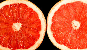 Grapefruit. Red grapefruit cut in the middle Stock Images