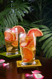 Grapefruit - Rose Iced Tea Stock Image