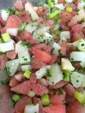 Grapefruit salad with asparagus Royalty Free Stock Photos