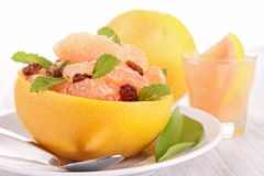 Grapefruit salad Royalty Free Stock Images